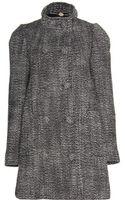 Stella McCartney Wool Blend Tweed Coat - Lyst