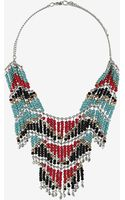 Topshop Beaded Cascade Necklace - Lyst