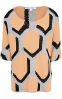 Diane Von Furstenberg Short Sleeve Sweater - Lyst