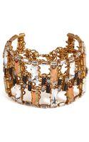 Erickson Beamon Gold Plated Xenon Bracelet - Lyst