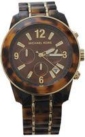 Michael Kors Preston Large Round Tortoise Watch - Lyst