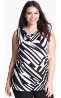 Olivia Moon Sleeveless Drape Front Knit Top - Lyst