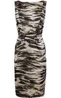 Lanvin Zebraprinted Silk Dress - Lyst