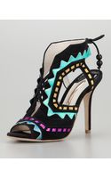 Sophia Webster Riko Cutout Leather Sandals - Lyst