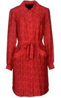 Antik Batik Belted Silk Knee-Length Dress - Lyst