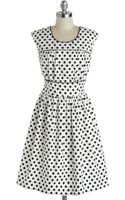 ModCloth No Dot About It Dress - Lyst