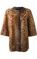 Lanvin Leopard Print Faux Fur Jacket - Lyst