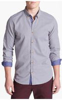 Ted Baker Flannel Trim Sport Shirt - Lyst