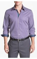 Ted Baker Bengal Stripe Trim Fit Sport Shirt - Lyst