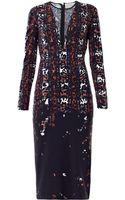Preen By Thorton Bregazzi Vi Tartan Leopard Jersey Dress - Lyst