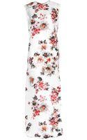 Acne Studios Palm Gazare Floralprint Silk Gown - Lyst