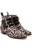 Tabitha Simmons Early Ponyskin Ankle Boots - Lyst