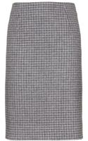 Marc Jacobs Wool Houndstooth Skirt - Lyst