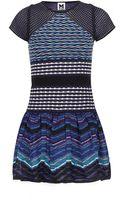 M Missoni Patchwork Drop Waist Dress - Lyst