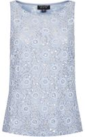 Topshop Beaded Lace Shell Top - Lyst
