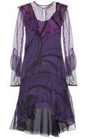 Emilio Pucci Printed Silkchiffon Dress - Lyst