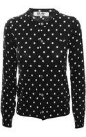 Comme Des Garçons Play Womens Button Cardigan Black - Lyst