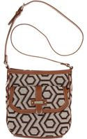 Nine West Hexagon 9s Jacquard Crossbody - Lyst