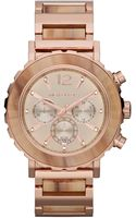 Michael Kors Womens Chronograph Lille Sand Acetate and Rose Goldtone Stainless Steel Bracelet 45mm - Lyst