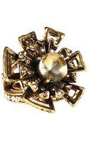 Oscar de la Renta Fire-works Crystal Ring - Lyst