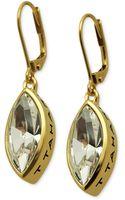 T Tahari 14k Goldplated Crystal Navette Drop Earrings - Lyst