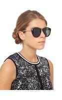 Karen Walker Black Harvest Wayfarer Sunglasses - Lyst