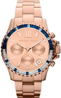 Michael Kors Womens Chronograph Rose Goldtone Stainless Steel Bracelet 42mm - Lyst