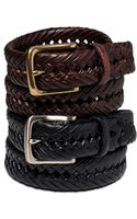 Tommy Hilfiger Braided Leather Belt - Lyst
