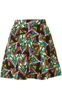 Topshop Aztec Print Skater Skirt - Lyst