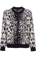 Lanvin Jacquard Leopard Print Sweater - Lyst