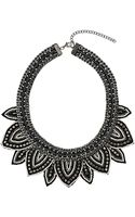 Topshop Leaf Seedbead Collar Necklace - Lyst