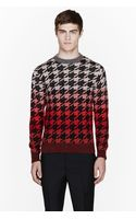 Paul Smith Pink Ombre Mohair Pied De Poule Sweater - Lyst
