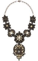 Deepa Gurnani Black Beaded Bib Necklace - Lyst