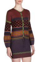 M Missoni Halfbutton Drawstring Waist Dress Multicolor - Lyst