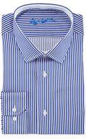 Robert Graham Andy Pinstripe Dress Shirt Navy 16 - Lyst