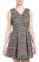 Robert Rodriguez Tweed Origamifold Dress Ivory 10 - Lyst
