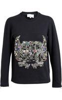 3.1 Phillip Lim Sono Mama Embellished Cotton Sweatshirt - Lyst
