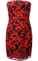 Diane Von Furstenberg Bicolour Lace Bustier Dress - Lyst