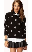 Forever 21 Polka Dot Sweater - Lyst