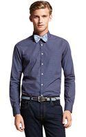 Tommy Hilfiger Slim Fit Cross Printed Shirt - Lyst