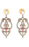 Sabine G 18k Rose Gold Ruby and Diamond Earrings - Lyst