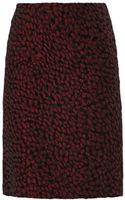 Saloni Wine Jacquard Pencil Skirt - Lyst
