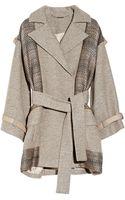 Matthew Williamson Paneled Wool Blend and Jacquard Coat - Lyst