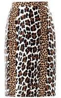 Burberry Prorsum Animalprint Ponyhair Pencil Skirt - Lyst