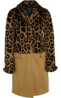 Burberry Prorsum Leopard-print Rabbit and Cashmere-blend Coat - Lyst