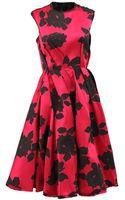 Lanvin Sleeveless Rose Full Bottom Dress - Lyst