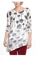Knitted & Knotted Fading Floral Ruched Pullover - Lyst