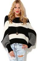Akira Striped Oversized Sweater - Lyst