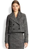 Burberry Cropped Tweed Jacket - Lyst