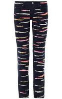 Isabel Marant Orson Zebraembroidered Midrise Skinny Jeans - Lyst